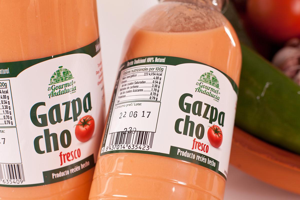gazpachos envasados en Sevilla